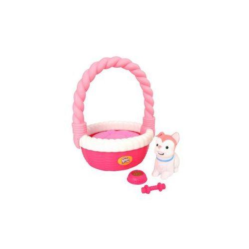 Little live pets piesek w koszyku różowy marki Moose
