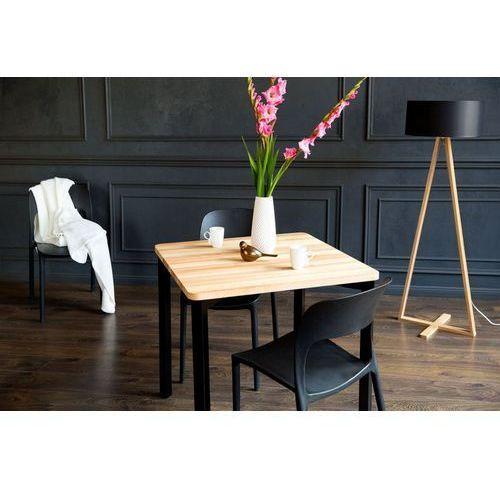 Stół z jesionowym blatem i zaokrąglonymi nogami Triventi