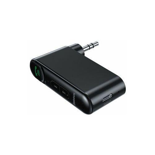 Baseus Qiyin odbiornik dźwięku Bluetooth audio AUX mini jack do samochodu czarny (WXQY-01) (6953156296152)