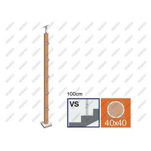 Slupek DUB (OAK) JP 40x40, v=100cm,VK-schody