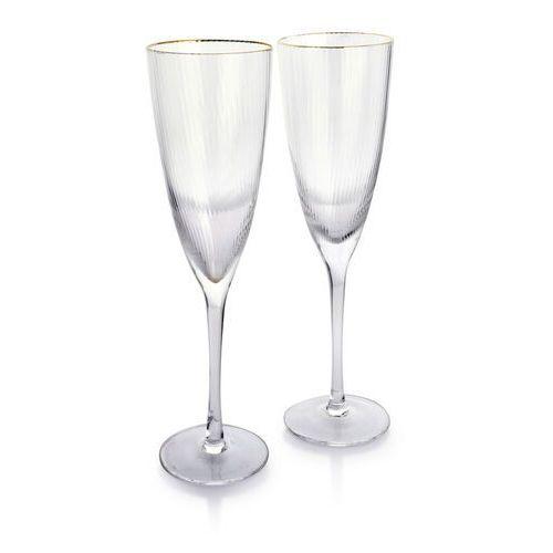 Sofa.pl Mada gold kpl.2 kieliszków do szampana 300ml 7x7xh25cm