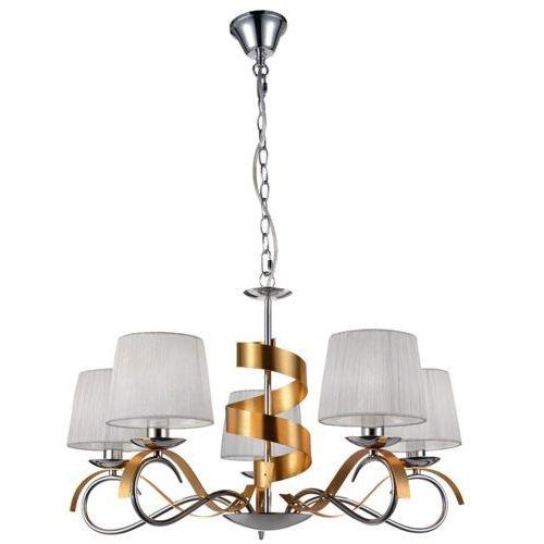 Candellux Lampa wisząca denis 5x40w e14 chrom/złoty 3523445