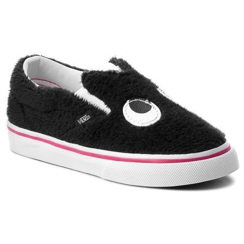Półbuty - slip-on friend vn0a3tk4u4t (party fur) black/true wh marki Vans