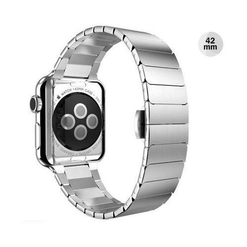 Srebrna elegancka bransoleta/pasek do apple watch lock loop 42mm - srebrny marki 4kom.pl