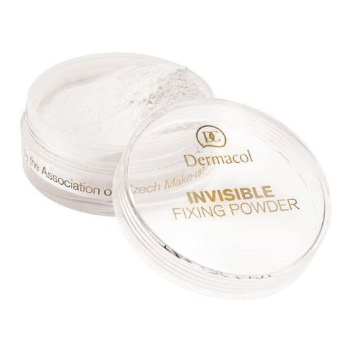 invisible fixing powder | utrwalający puder transparentny - white 13,5ml marki Dermacol