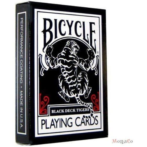 Uspcc - u.s. playing card compa Karty bicycle black tiger deck red pips- uspc karty bicycle black tiger deck red pips- uspc