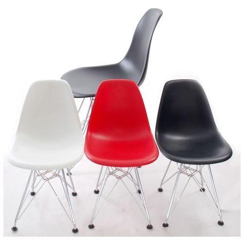 Krzesło JuniorP016 czerwone, chrom. nogi MODERN HOUSE bogata chata, 5394