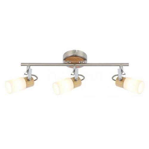 Globo lampa sufitowa led nikiel matowy, 3-punktowe - - obszar wewnętrzny - lori - czas dostawy: od 6-10 dni roboczych marki Globo lighting