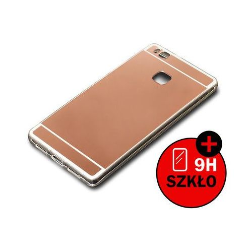 Etui lustrzane mirror gel do Huawei P9 Lite Różowe + Szkło hartowane - Różowy