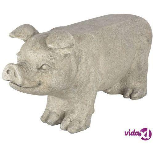 Esschert design kamienna ławka ogrodowa świnka, av13, szara (8714982120824)