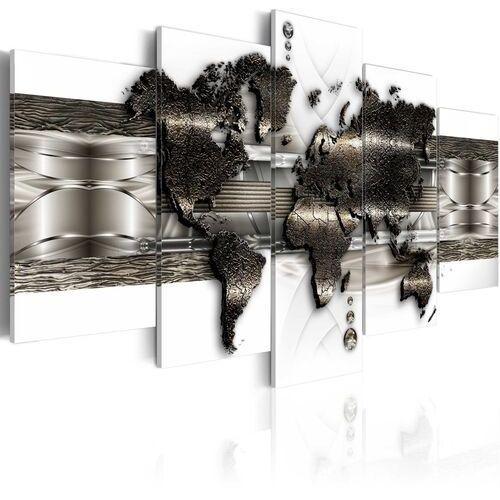 Obraz - mapa metalowego świata ii marki Artgeist