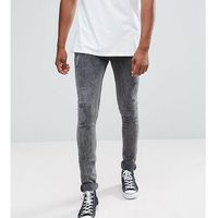 ASOS TALL Super Skinny Jeans In Vintage Washed Black With Rip And Repair - Black, jeans
