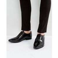 city leather hi shine oxford shoes - black, Walk london