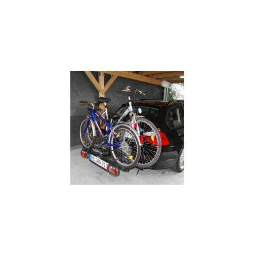 Składany bagażnik na rowery EUFAB POKER-F, uchwyt na hak + torba z kategorii Bagażniki rowerowe do samochodu