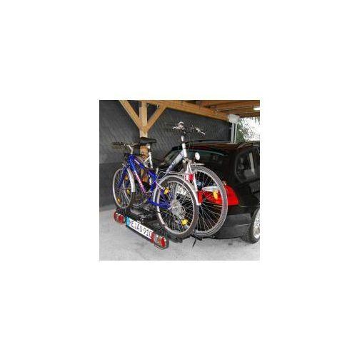Składany bagażnik na rowery poker-f, uchwyt na hak + torba marki Eufab