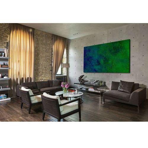 Pracownia art.&texture Nowoczesne obrazy ręcznie malowane - turkusowa toń