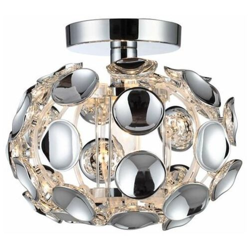 Plafon LAMPA sufitowa FERRARA LP-17060/1C Light Prestige owalna OPRAWA glamour chrom, kolor Srebrny