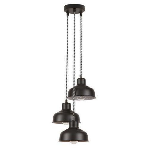 Lampa wisząca zwis oprawa Rabalux Owen 3X25W E27 czarna 2790, kolor Czarny