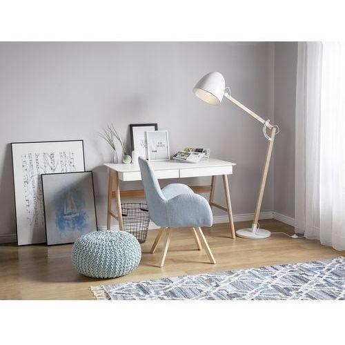 Beliani Lampa stojąca biała 175 cm hetton