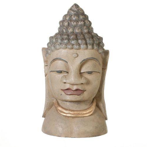 Dekoria Dekoracja Głowa Buddy 19x19x45cm -30%, 19 × 19 × 45 cm