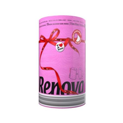 Renova 1szt fuksja red label ręcznik papierowy
