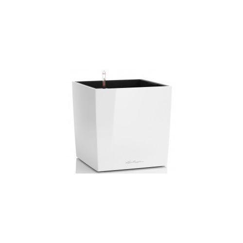 Biała Doniczka Z Nawadnianiem Cube 40 Lakierowana Morizon