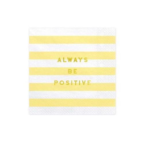 Serwetki Always Be Positive żółte paski - 33 cm - 20 szt. (5902230791909)