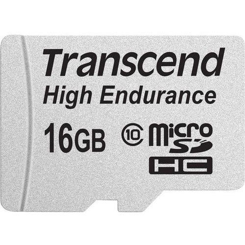 Karta pamięci microSDHC Transcend TS16GUSDHC10V, 16 GB, Class 10, 21 MB/s / 20 MB/s, High Endurance