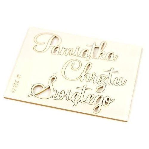 Scrapiniec Ozdobny napis pamiątka chrztu świętego 14x4 cm