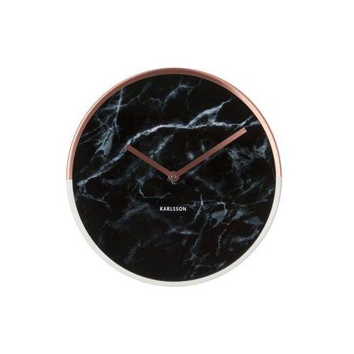 Karlsson :: zegar ścienny marble delight czarny