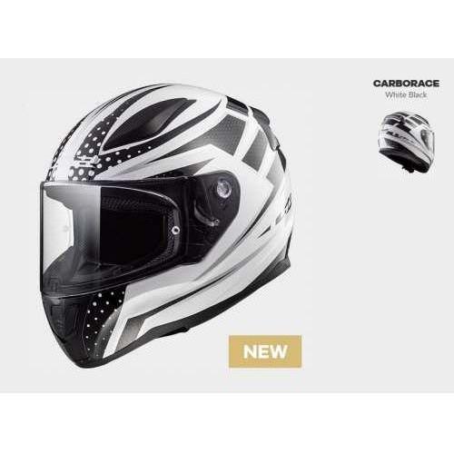 Kask motocyklowy kask ff353 rapid carborace w/b, model 2018! marki Ls2