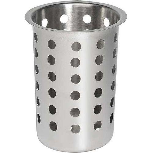 Koszyk na sztućce ze Stali Nierdzewnej | Ø97x137 mm, towar z kategorii: Pojemniki i kosze gastronomiczne