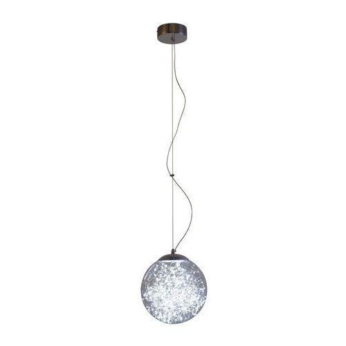 Lampa wisząca zwis spektra 1x9w led chrom / przezroczysta kr 323-1l marki Krislamp