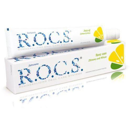 Rocs  lemon&mint - pasta o smaku cytryny i mięty (4607034470456)