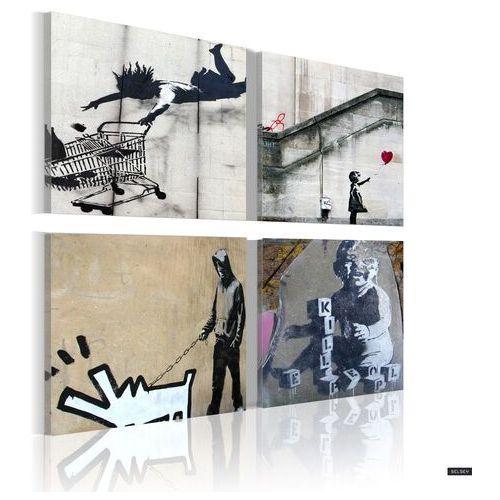 Selsey obraz - banksy - cztery twórcze pomysły 40x40 cm