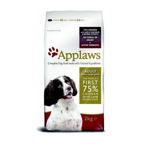 Applaws 1 + 1 kg gratis!  karma dla psa, 2 kg - adult small & medium breed, kurczak z jagnięciną