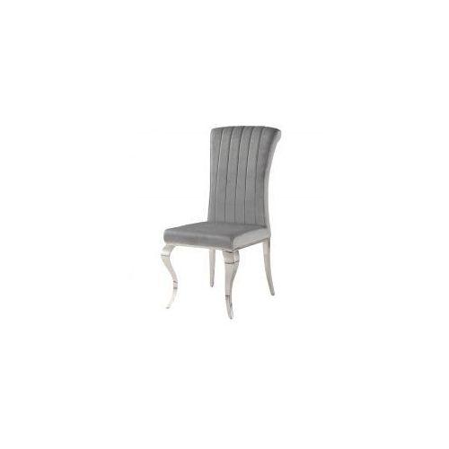Krzesło glamour Stanley Silver - nowoczesne krzesło tapicerowane, Stanley/KRZP/silver