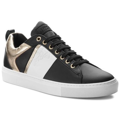 Sneakersy VERSACE COLLECTION - V900714 VM00392 V660H Nero/Bianco/Oro Chiaro, w 7 rozmiarach