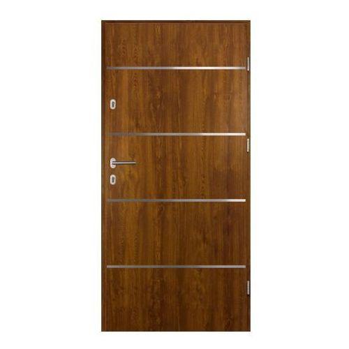 Drzwi zewnętrzne stalowe elbrouz 80 prawe złoty dąb marki O.k.doors