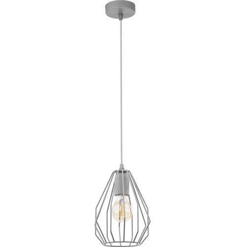 Lampa wisząca druciana zwis loft tk lighting brylant 1x60w e27 szara 2226 marki Tklighting