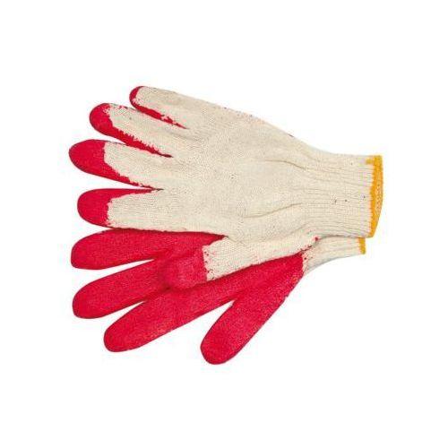Rękawice robocze VOREL 74162 Biało-czerwony (rozmiar 9)