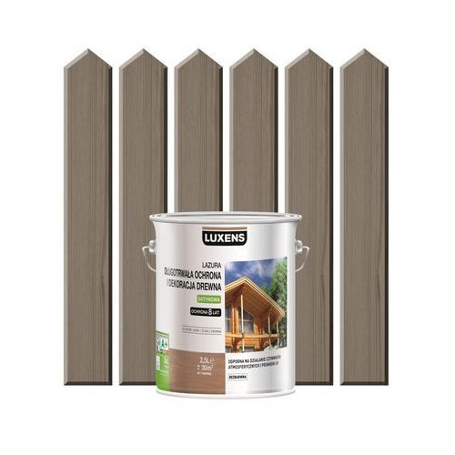 Luxens Lazura do drewna długotrwała ochrona i dekoracja drewna 2,5 lszary beton (3276006110112)