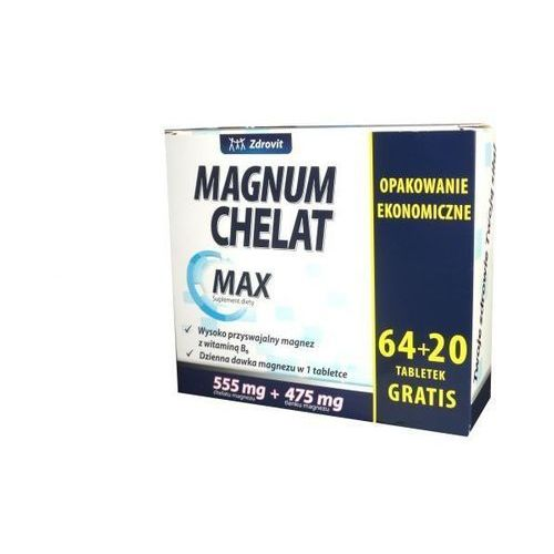 Tabletki ZDROVIT Magnum Chelat Max x 64+20 (84) tabletek