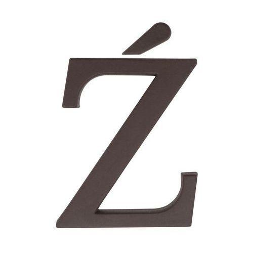 Litera Ź wys. 9 cm PVC brązowa (5901912823471)
