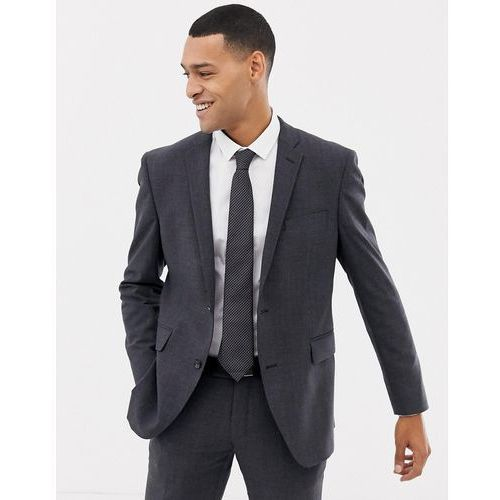Esprit slim fit commuter suit jacket in grey check - Grey, kolor szary