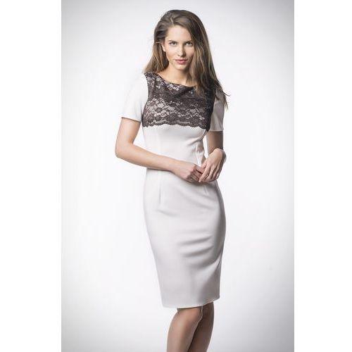 Sukienka model km84-1 cream, Kartes moda