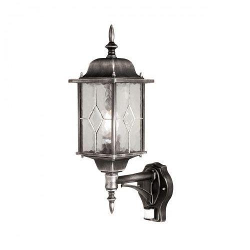 Elstead Zewnętrzna lampa ścienna medstead md7 pir klasyczna oprawa elewacyjna ip43 z czujnikiem ruchu outdoor czarna