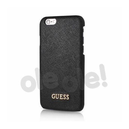 GUESS Etui hardcase GUHCP6TBK iPhone 6/6S czarne SAFIANO, kolor czarny