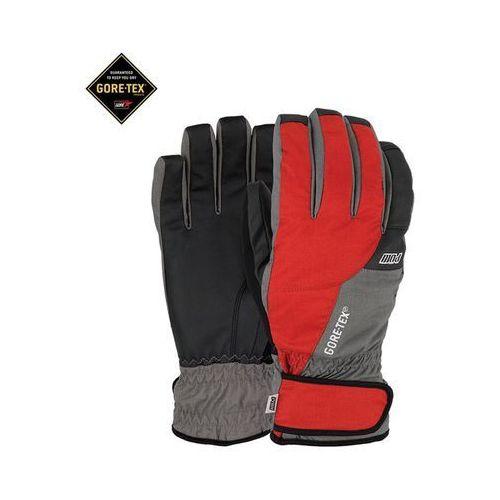 Pow Rękawice snowboardow - warner gtx® short glove red (rd) rozmiar: m