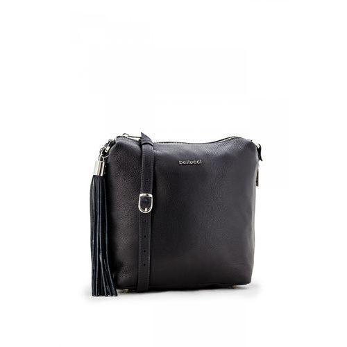 Czarna, poręczna torebka średniej wielkości - Franco Bellucci